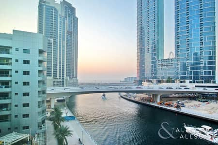 2 Bedroom Flat for Rent in Dubai Marina, Dubai - Water View | Unfurnished | Two Bedrooms