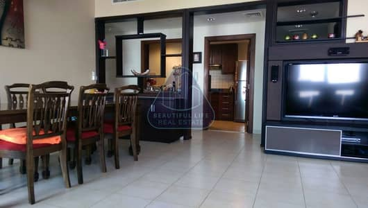 2 Bedroom Flat for Rent in Business Bay, Dubai - 2 + Maid  Semi Fursnished High Floor Ready to Move In