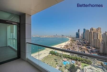 شقة 1 غرفة نوم للبيع في جميرا بيتش ريزيدنس، دبي - Sea View | High Floor | Unfurnished | Upgraded