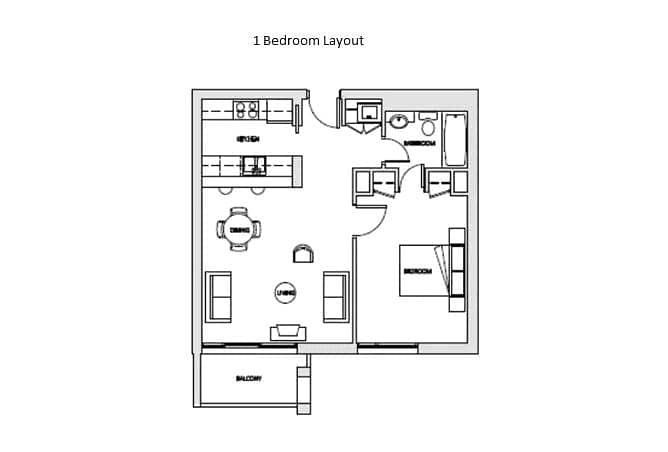 10 Double Balcony   Great Condition   1 Bed