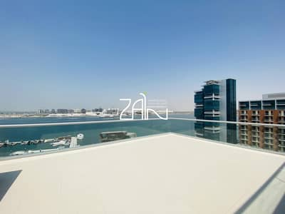 4 Bedroom Apartment for Rent in Al Raha Beach, Abu Dhabi - Full Sea View Spacious 4+M Apt with Large Terrace