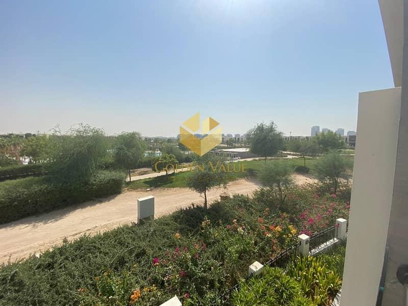 2 Full Park view l Single row villa l 3 bedrooms l At the most prestigious community in Dubai  l Flexible  payment plan l