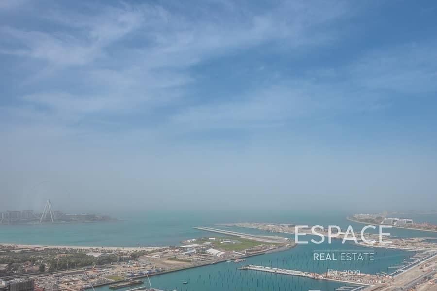 High Floor | Sea Views | Vacant | 3 Beds