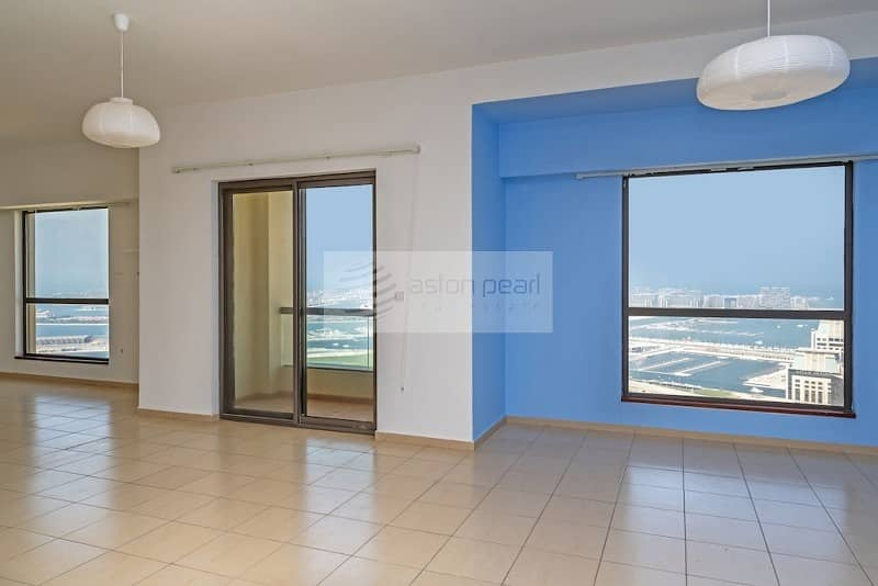 2 Largest/Rarest 1BR Full Sea View in JBR|High Floor