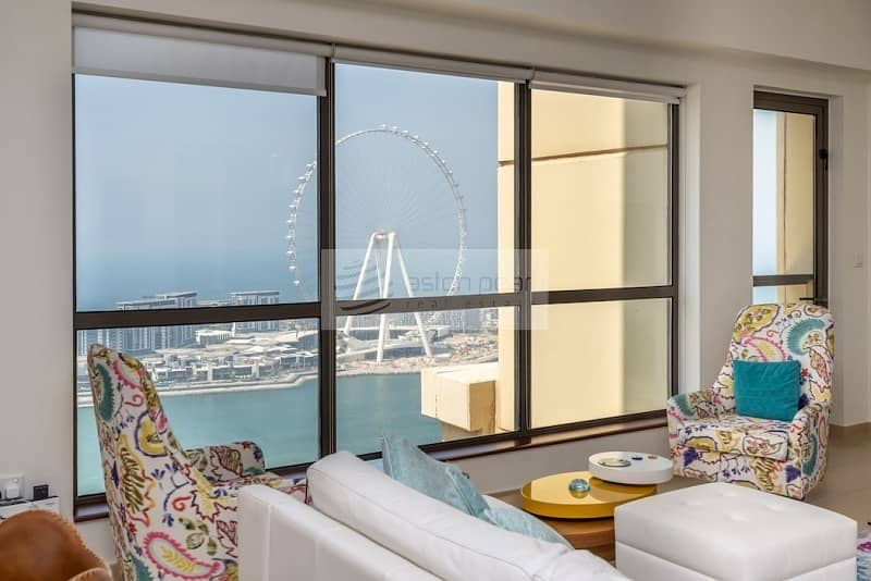 Largest Unique Half Floor 3Bedroom   Full Sea View