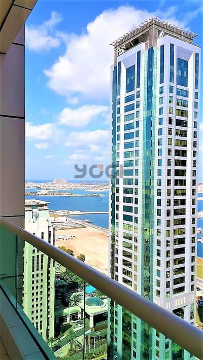 2BR- Partial Sea and Marina View | Vacant | Dubai