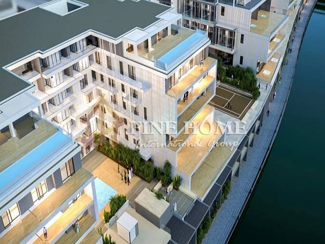 1 Bedroom Canal + Courtyard View!! w/ Huge Terrace