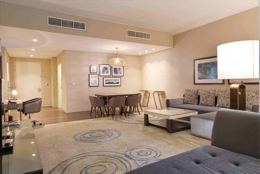 2 Spacious Furnished Two Bedroom Apartment Downtown Abu Dhabi