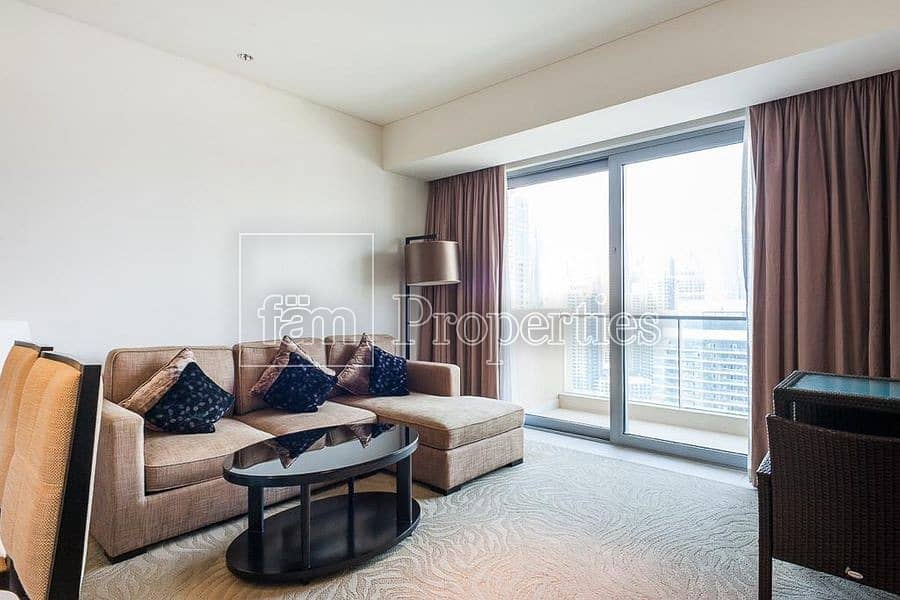 Fully furnished 1BHK | Marina view | High floor