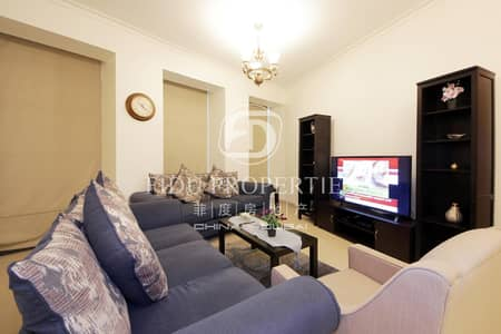 Fully Furnished 3 BR with maids Room | High Floor