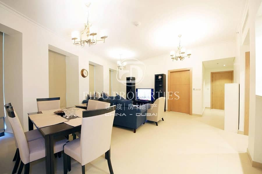 2 Fully Furnished 3 BR with maids Room | High Floor