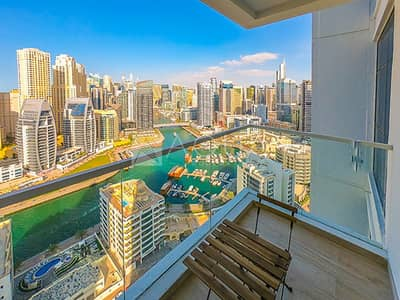 1 Bedroom Flat for Rent in Dubai Marina, Dubai - Marina View | Furnished | All Bills Included