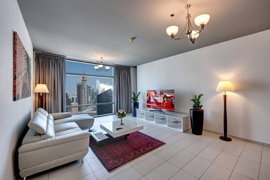2 Stunning Burj Khalifa New Year Fire Works at close proximityOne Bedroom fully furnished fully serviced Apartment in DIFC