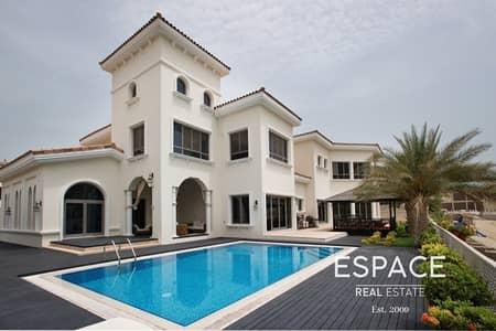 فیلا 5 غرف نوم للبيع في نخلة جميرا، دبي - Beach Views - Low Number - Palm Jumeirah