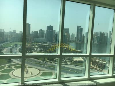 Office for Rent in Al Majaz, Sharjah - Decorated Office| Panorama View| Negotiable Price