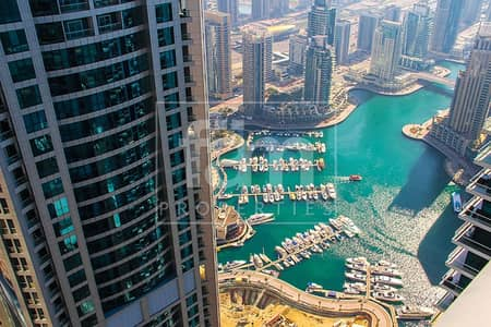3 Bedroom Flat for Rent in Dubai Marina, Dubai - Partial Sea View I Fully Furnished I Vacant Now