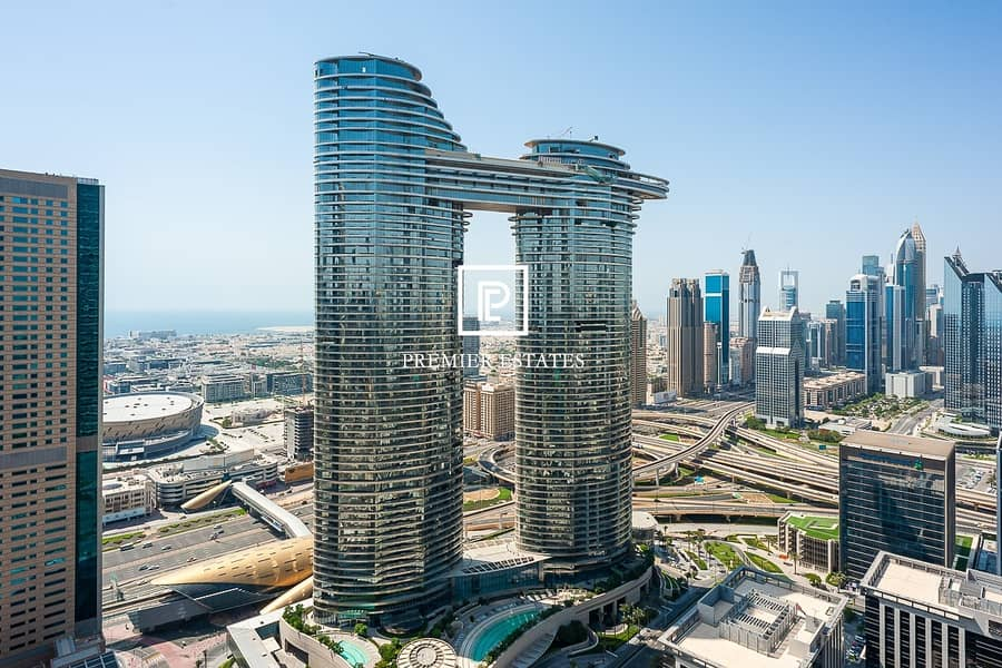 DIFC and Sea View| Maids room| Higher Floor