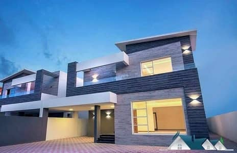 5 Bedroom Villa for Sale in Al Rawda, Ajman - Super Deluxe villa with stone facade is freehold for all nationalities