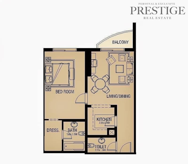 14 1 Bed I Global Golf Residence I Sports City|New