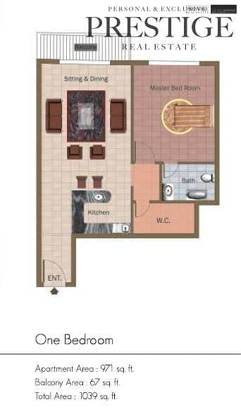 10 1Bed | Champion Tower 3 | Sport City | Mid-Floor