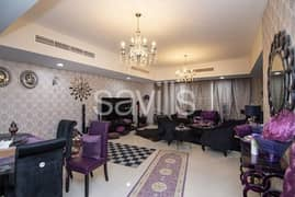 Fully furnished corner villa with fountain