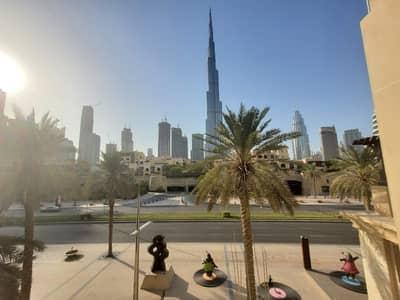 شقة 2 غرفة نوم للايجار في المدينة القديمة، دبي - Burj Khalifa View | Unfurnished 2BR Flat|Low Floor