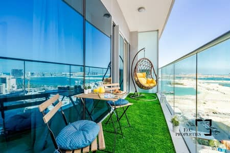 1 Bedroom Apartment for Rent in Dubai Marina, Dubai - Elegantly Furnished 1 BR Apt W/ Sea View