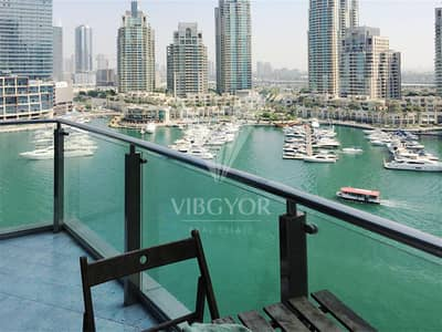 1 Bedroom Flat for Rent in Dubai Marina, Dubai - Furnished | Vacant with Lake View | Good Condition