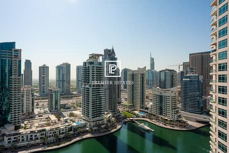 1 Bedroom Flat for Rent in Dubai Marina, Dubai - Beautifully Furnished 1BR|Marina View|Chiller Free