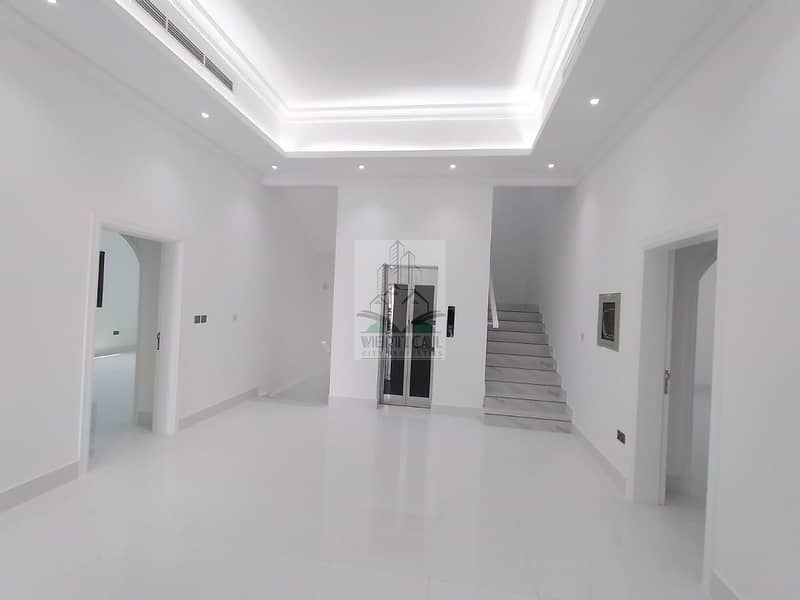 Excellent villa for sale first inhabitant in Shakhbout city, 6 master bedrooms