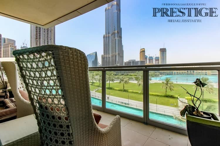 Full Burj Khalifa & Fountain View | 3 Bed + Maid