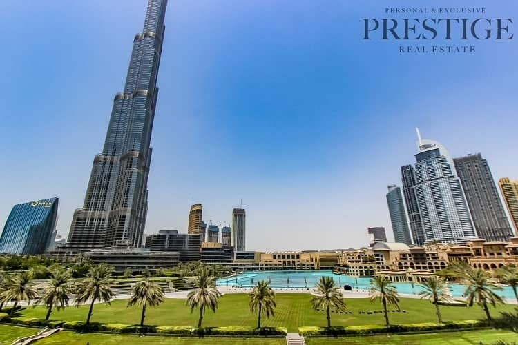 2 Full Burj Khalifa & Fountain View | 3 Bed + Maid