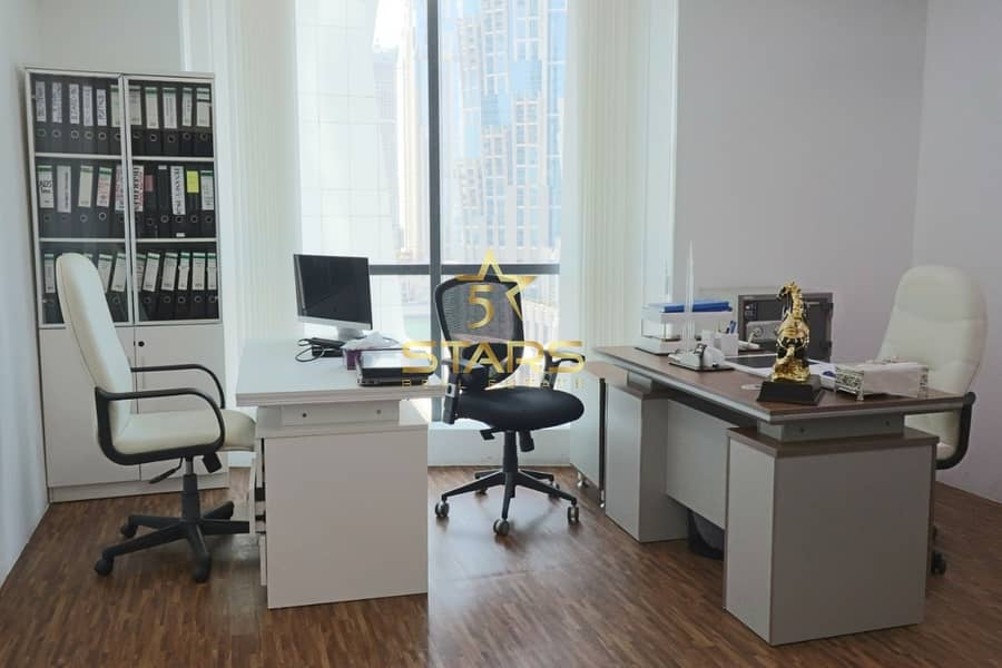 2 01 Parking - Separate Furnished Office  in Business Bay