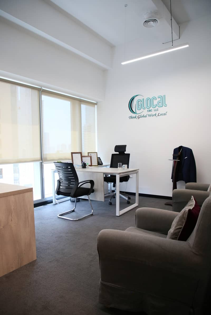 18 LUXURIOUS FURNISHED OFFICE NEXT TO METRO AT AED 27999!