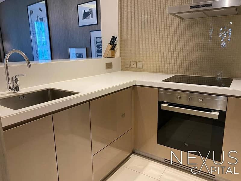 2 Canal View And Burj Khalifa | Kitchen Appliances | Ready To Move In