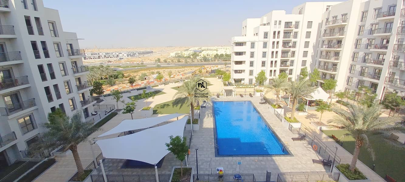 FULL POOL VIEW | 1 BED ROOM | BALCONY+PARKING+LAUNDRY | JENNA 2 | TOWN SQUARE