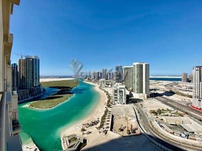 2 Bedroom Flat for Rent in Al Reem Island, Abu Dhabi - Sea View Higher Floor Chiller FREE | Beach Access