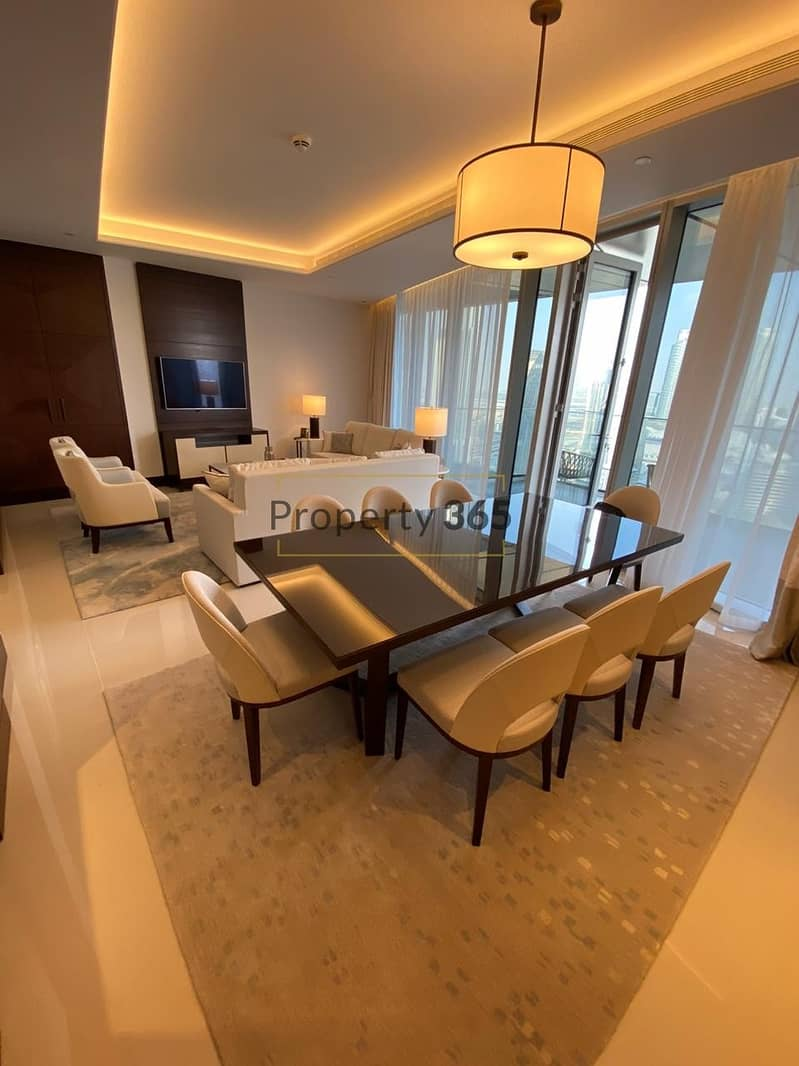 2 FULL BURJ VIEW / 3 bedrooms + Maid`s Room @ Address Residences  Sky View
