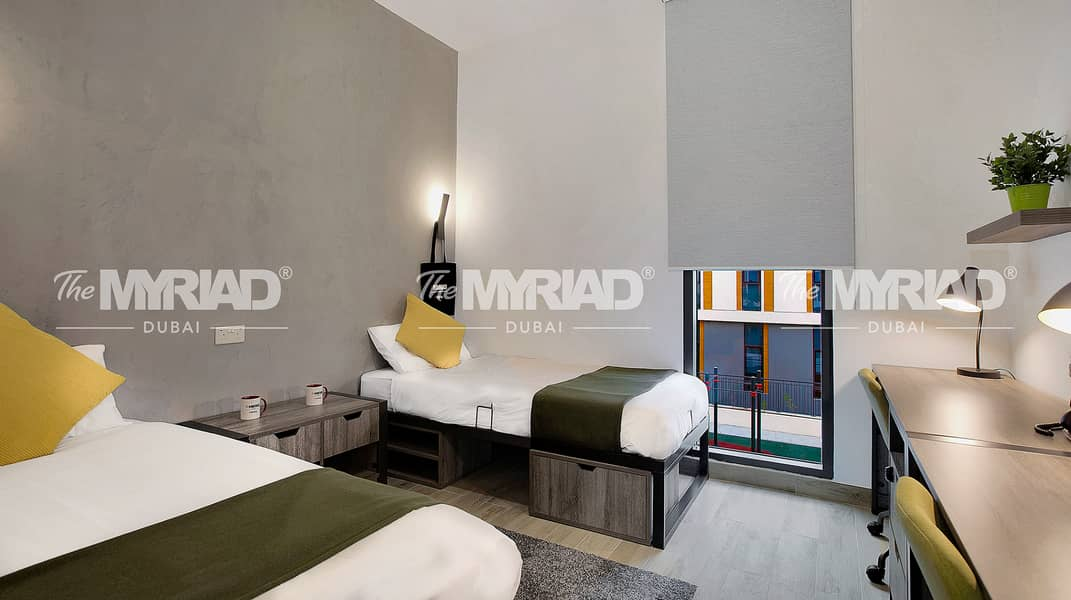 Student Accommodation | Double Room - Male Block | The Myriad Dubai