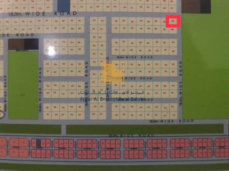3 For sale Corner residential plot in Al Hoshi