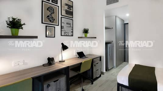 Studio for Rent in Academic City, Dubai - Student Accommodation | Double Room - Female Block | The Myriad Dubai