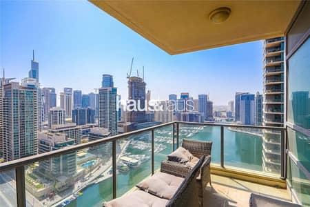 شقة 2 غرفة نوم للايجار في دبي مارينا، دبي - Full Marina Canal View | Upgraded | Corner Unit