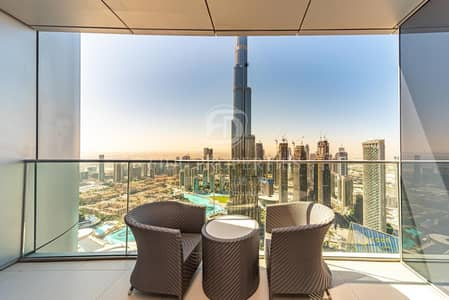 5 Bedroom Penthouse for Rent in Downtown Dubai, Dubai - Breathtaking View I Sky Collection I Furnished