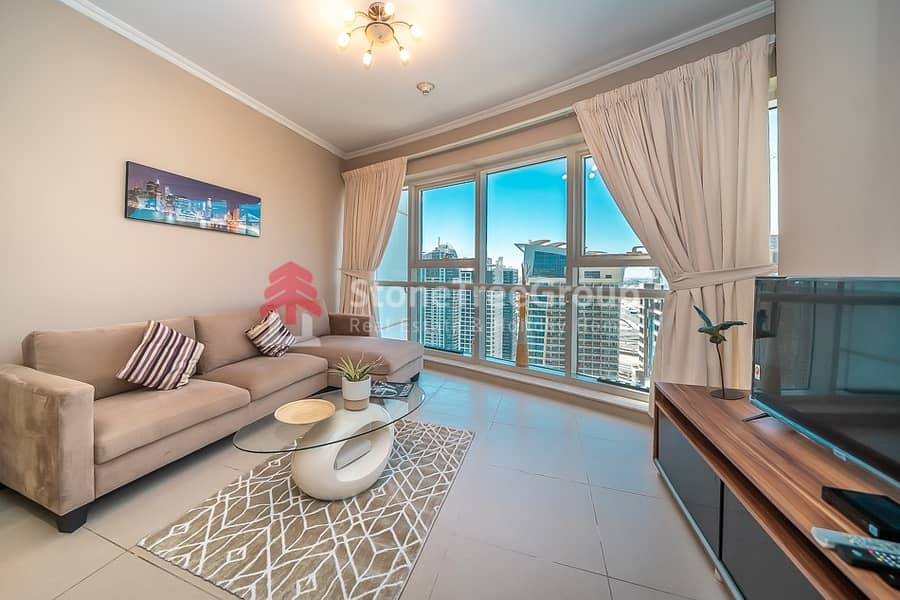 2 New unit! Furnished 1 BR in JLT | Goldcrest Executive | All Inclusive!