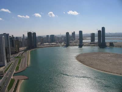 2 Bedroom Apartment for Sale in Al Khan, Sharjah - Vacant 2BR in Al Shahd Tower with Sea view