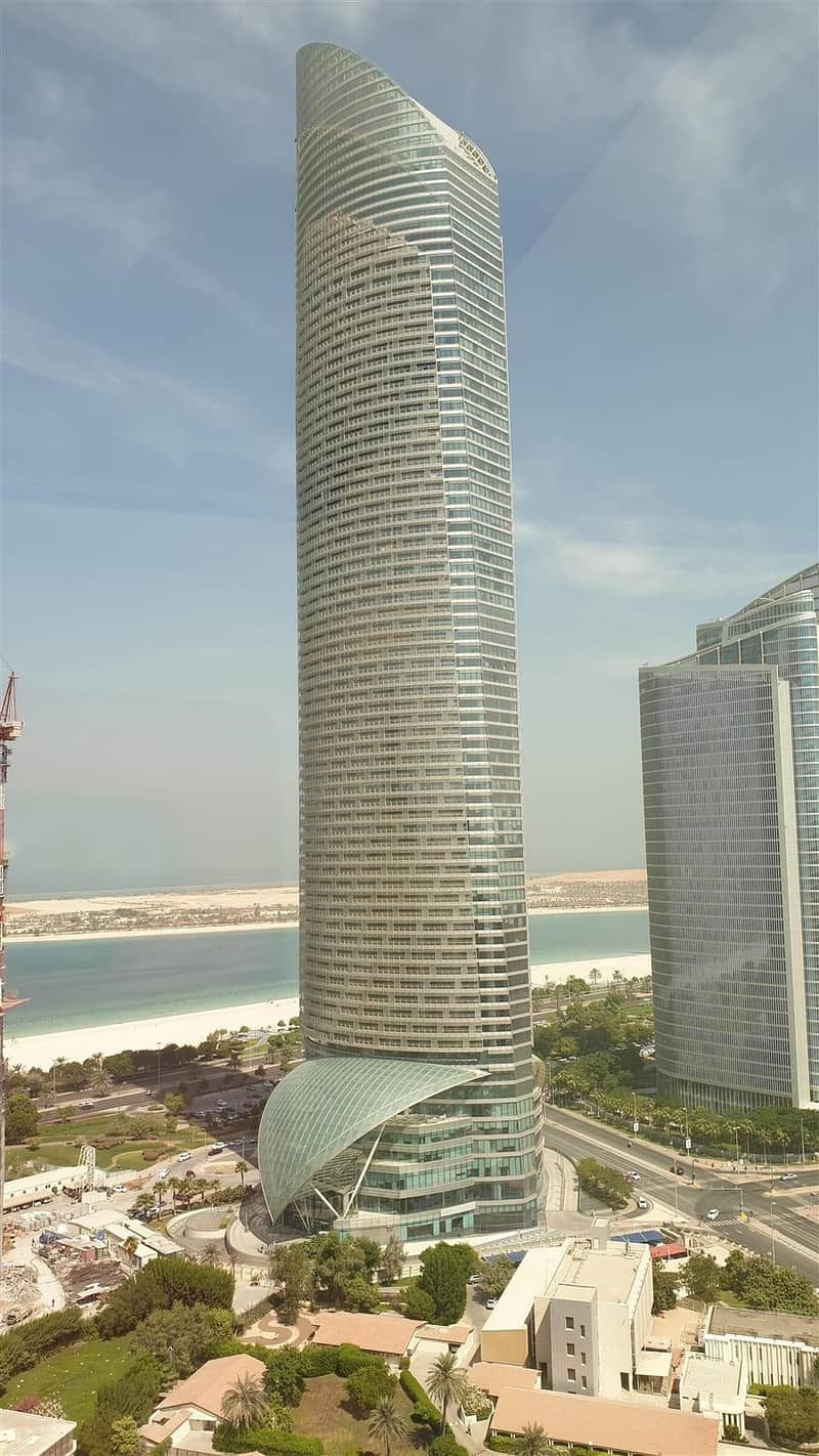 1 Amazing Brand New 3 Master Bedroom Flat available in Corniche area with sea view and  under ground parking