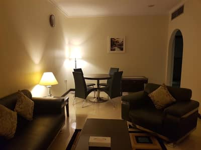 1 bed room c.a/c  furnished and  serviced  flat in salam st  with gym  tawtheeq and including utility 12 payments