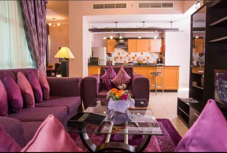1 Bedroom Flat for Rent in Al Barsha, Dubai - FULLY FURNISHED UPTO 12 CHQ  1 BHK IN MOE JUST 45K