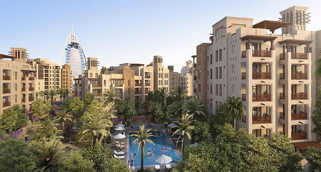 First-ever freehold in Jumeirah | Opposite to Burj Al Arab | Spacious 2-BR + Maid with Balcony
