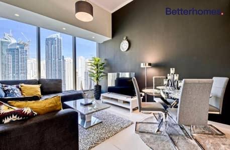 فلیٹ 1 غرفة نوم للايجار في دبي مارينا، دبي - High Floor | Marina View | 1Bed | Silverene